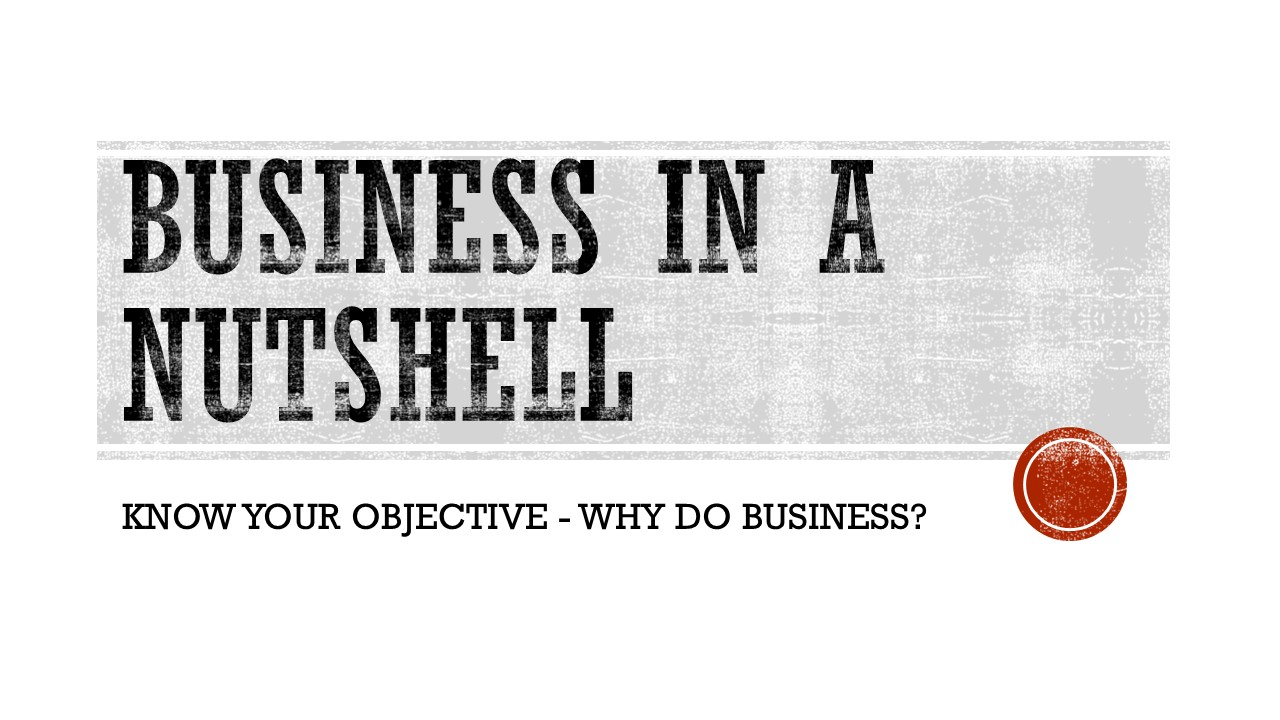 Know Your Why? Why do business.